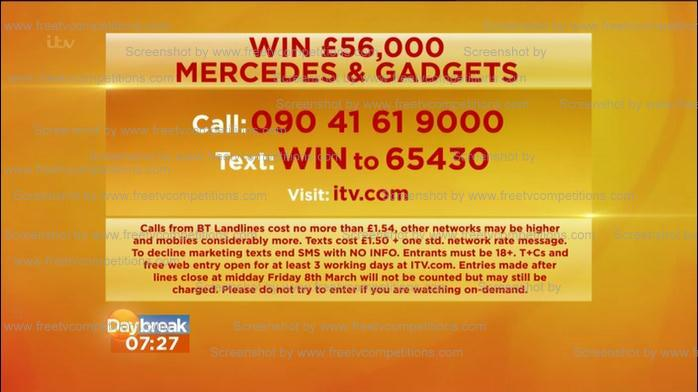 Free entry ITV competitions 2013