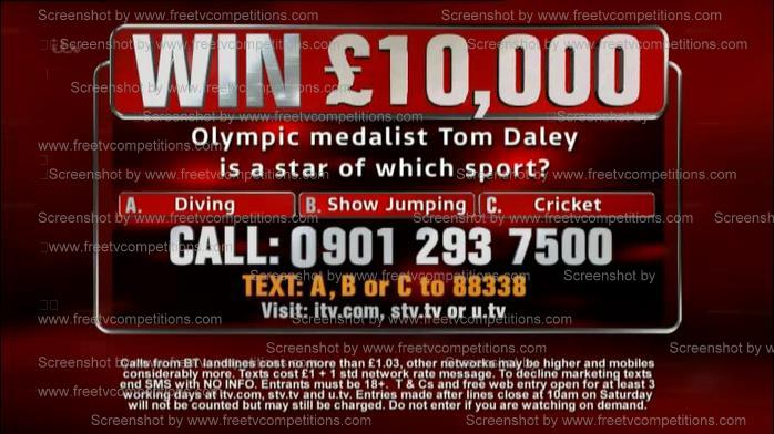 The Chase competition question. Free entry is valid to 4th July 2013