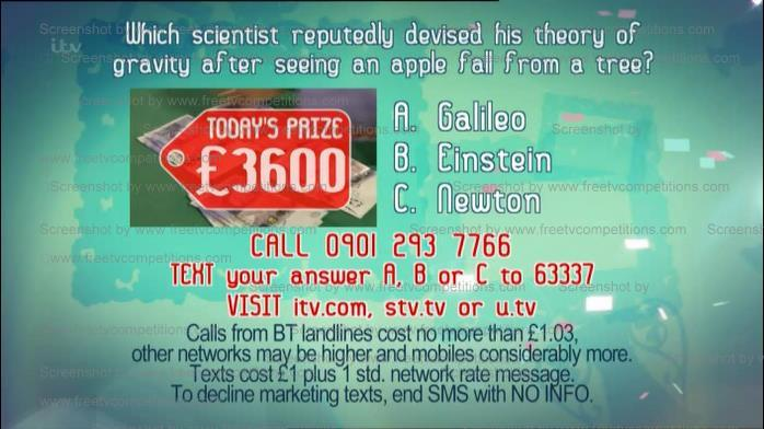 Today's Real Deal competition question. Monday 8th July 2013.