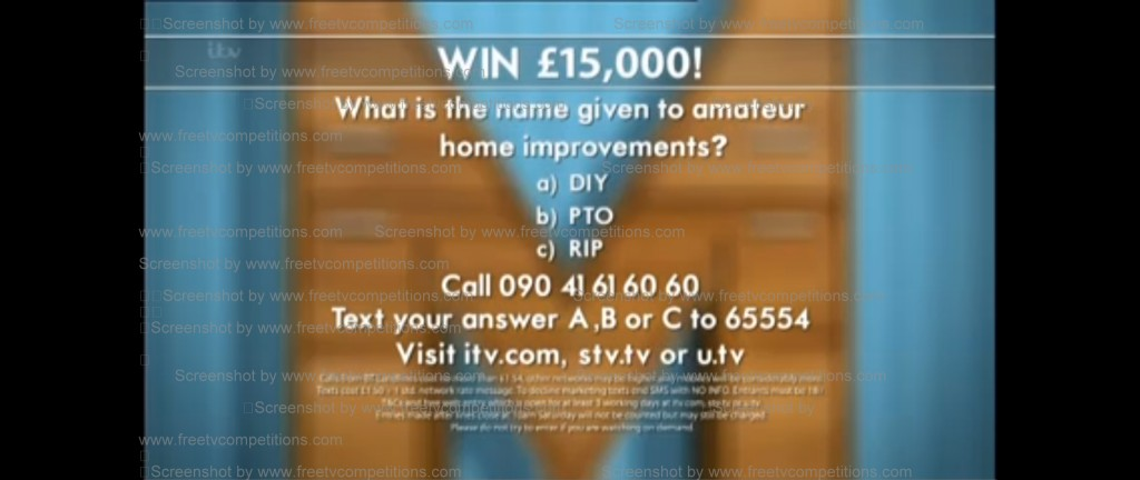 Peter Andre 60 Minute Makeover competition question and free entry. Ends 21 november 2013