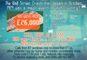 Dickinson's Real Deal competition question to win £26000