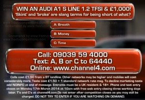 Deal or No Deal competition question closing 20 March 2014