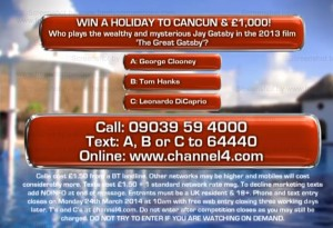 Deal or No Deal competition question closing 27 March 2014