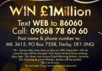 Daytime Make Me A Millionaire competition,