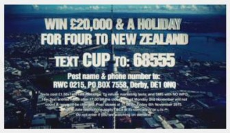 ITV Rugby competition prize draw £20000 plus New Zealand trip 2015