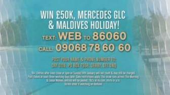 loose women competition itv 50k maldives mercedes 2016