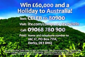 I'm a Celebrity £60,000 plus Australia trip competition