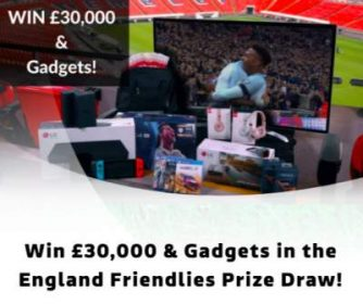 England Friendlies Competition ITV Prize Draw 2018