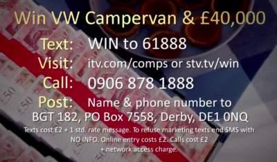 BGT VW Campervan Competition prize draw entry details £40,000 cash