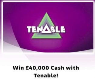 Tenable ITV Prize Draw £40,000 2018