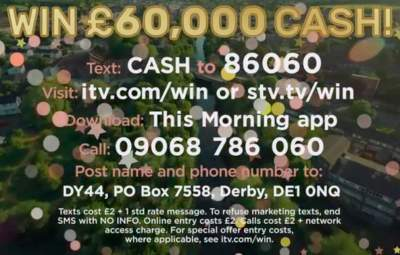 Win £60,000 in Cash with Loose Women and This Morning on ITV ~ Free