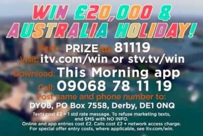Loose Women Australia prize competition entry details £20,000 cash 2019