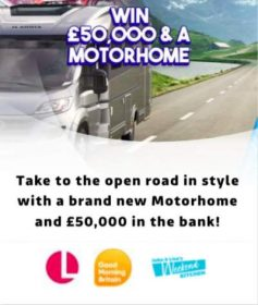 Win a Motorhome and £50,000 in Cash with Good Morning