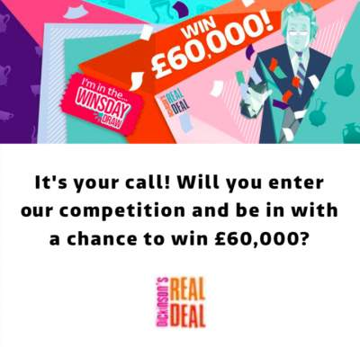 ITV Dickinson's Real Deal prize £60000