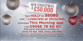 This Morning and Loose Women Christmas competition ITV