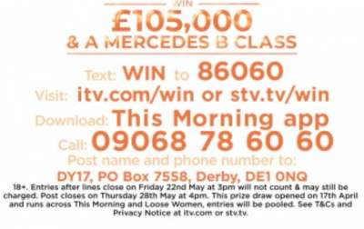 Loose Women Prize Mercedes