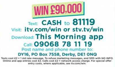 This Morning Competition ITV