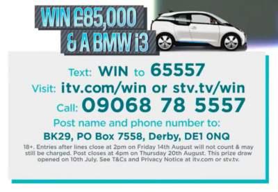 Lorraine BMW prize entry details.