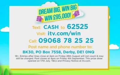 Lorraine £95,000 prize ITV