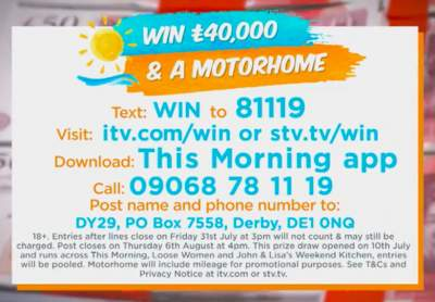 Loose Women Motorhome competition ITV