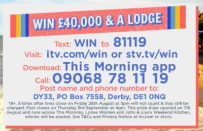 Loose Women Lodge Prize ITV