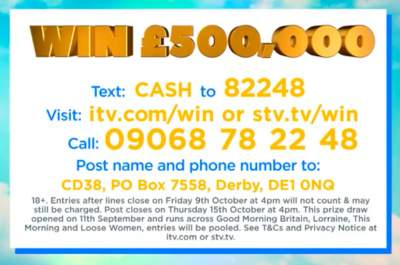 Good Morning Britain Competition £500,000
