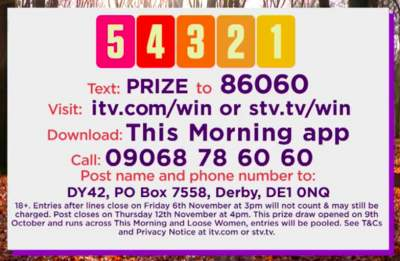 54321 Competition ITV