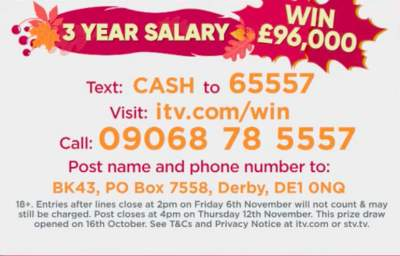 Lorraine £96,000 competition
