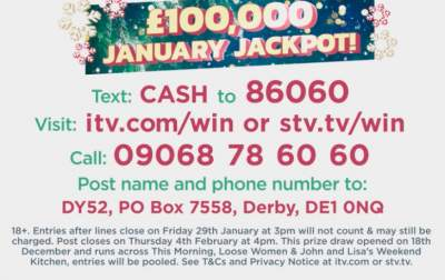 Loose Women Christmas and New Year competition ITV