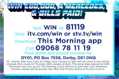 Loose Women Mercedes Prize Draw Competition 2021