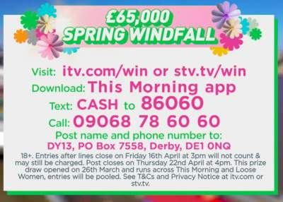 Loose Women Cash Prize ITV