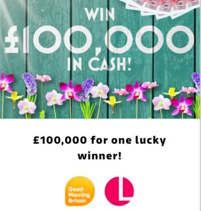 Lorraine £100,000 prize