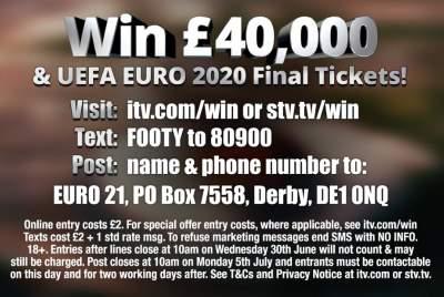 ITV Euro Ticket Prize 2020