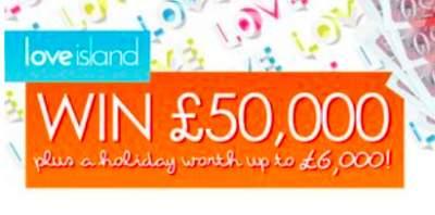 Love Island £50000 prize ITV