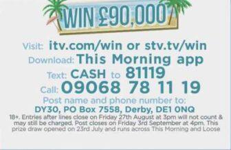 Win £90K Loose Women ITV