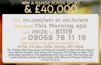 Loose Women Range Rover Prize