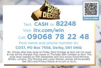 Million Pound Prize ITV 2021
